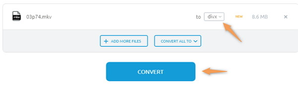 convert M4V to MKV by Onlineconvertfree