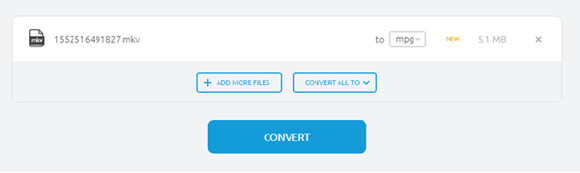 convert MKV to MPG by Onlineconvertfree