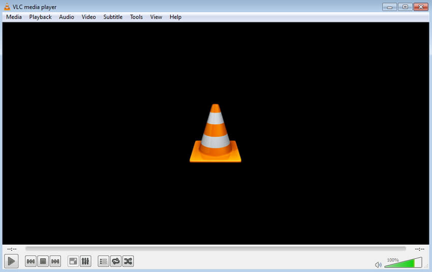 start VLC Media player op je PC