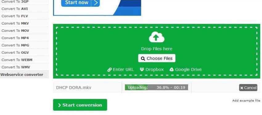 Online-Convert convert mkv file to mp4
