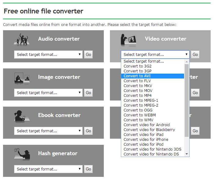 kostenlos online mkv zu AVI Konverter