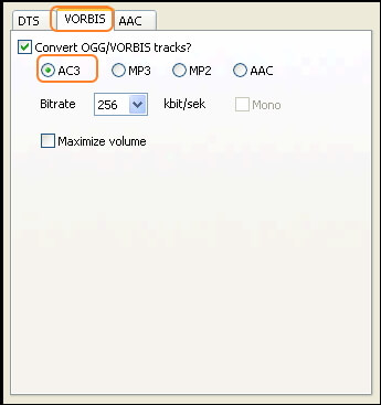 Popcorn MKV audio converter - step 2