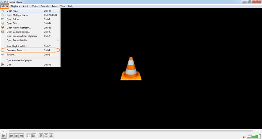 VLC MKV audio converter - step 1