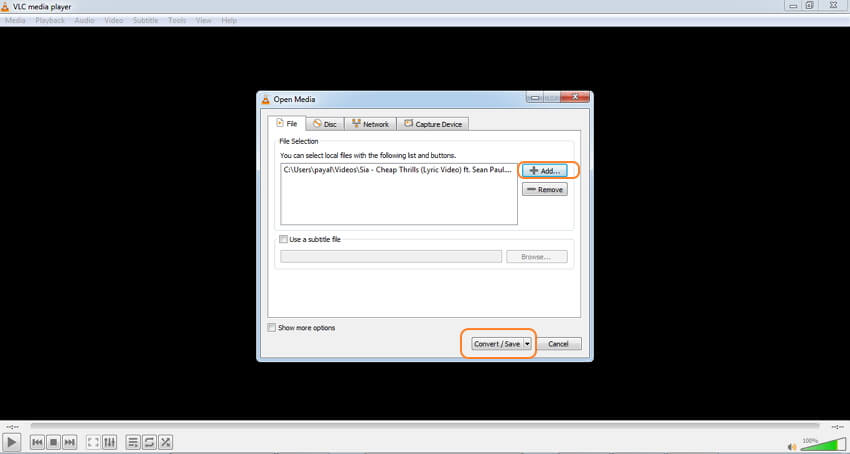 VLC MKV audio converter - step 2