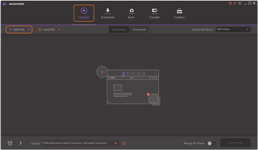 Add videos into the AVI to MOV converter Mac