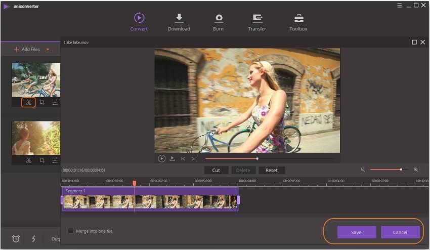 trim MOV videos