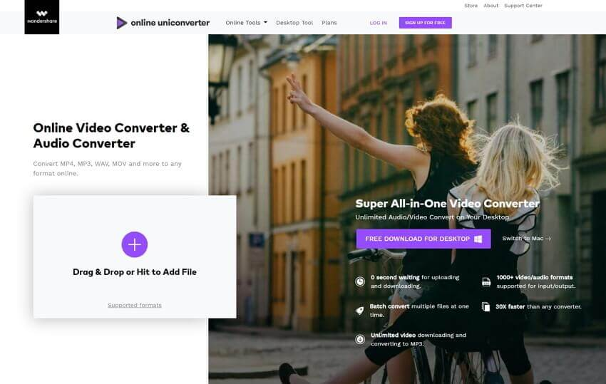 MOV to AVI converter online media.io