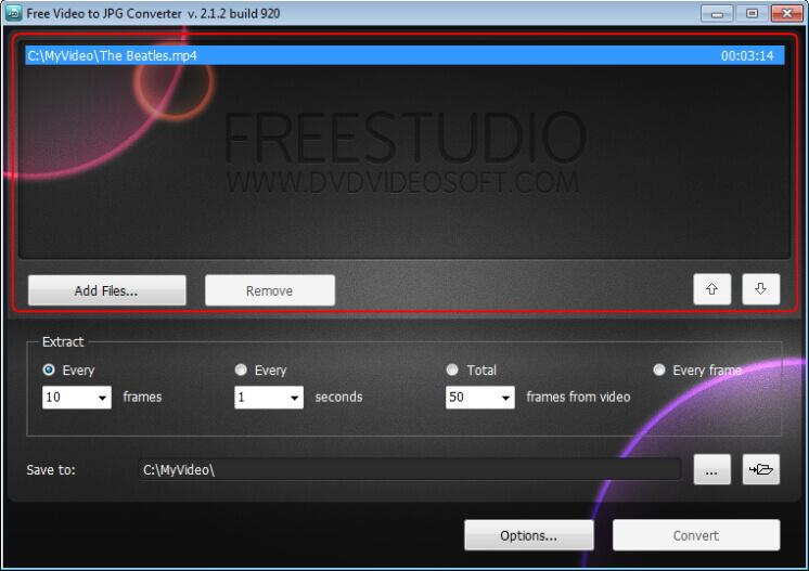MOV-Dateien laden, um zum jpg-Konverter zu wechseln frei