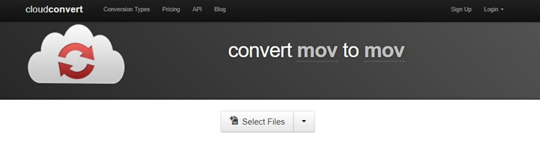 cloudconvert to convert mov to mov