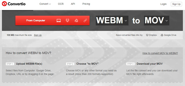 convertir webm en mov en ligne