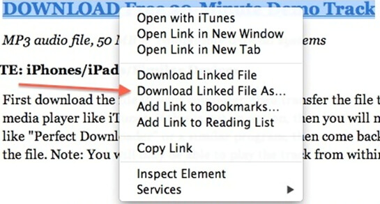 download quicktime mp3 with safari