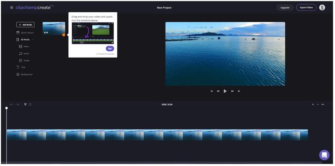 modifier MOV en ligne - ClipChamp Create