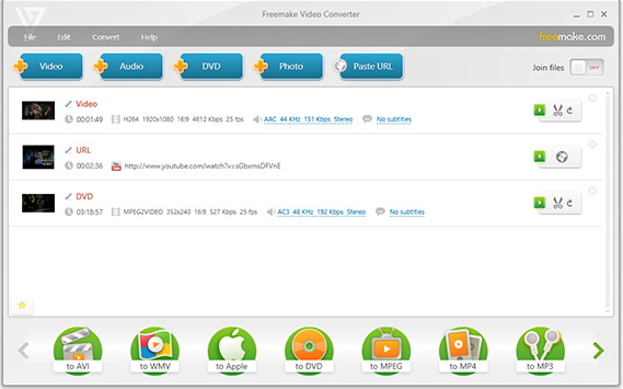 free MOV converter - Freemake Video Converter