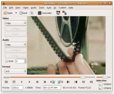 free MOV editor - Avidemux