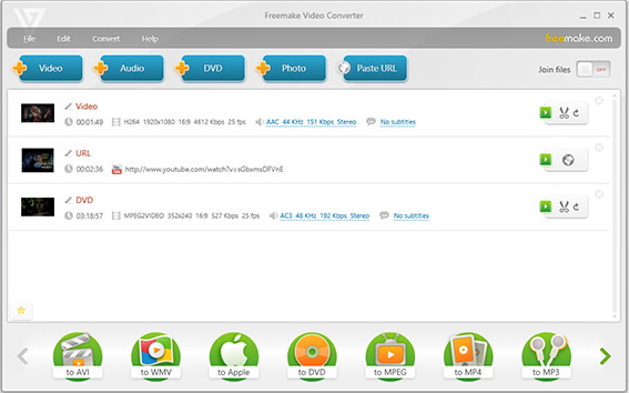 converti mov in avi gratuitamente con Freemake