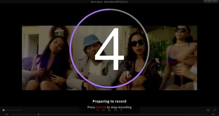 Start recording M4V video