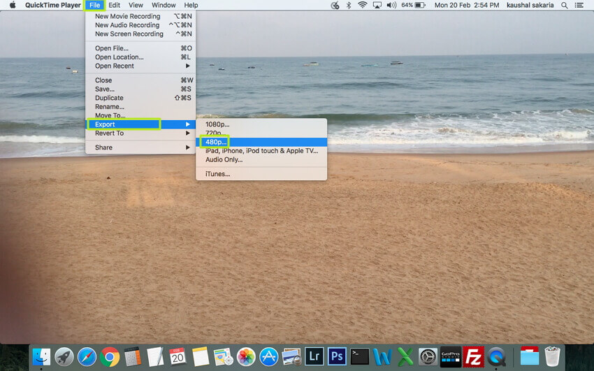 Make QuickTime MOV Smaller - Tip 4
