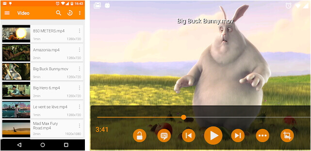 MOV player for Android - VLC for Android