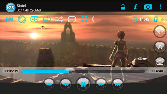 Lecteur MOV pour Android - SPlayer