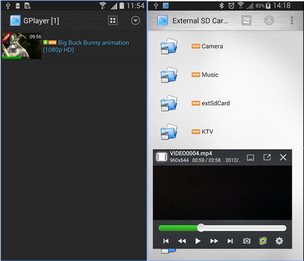 Lecteur MOV pour Android - GPlayer