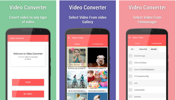convert mov to avi by Video Converter (Android)
