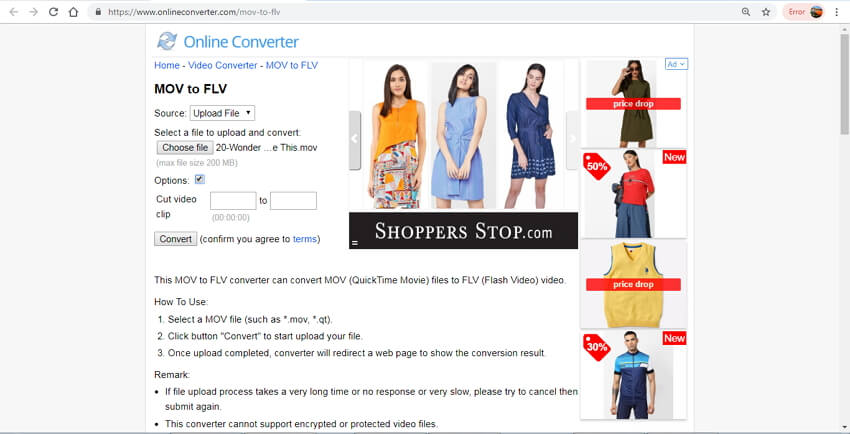 online mov to flv converter - Online Converter