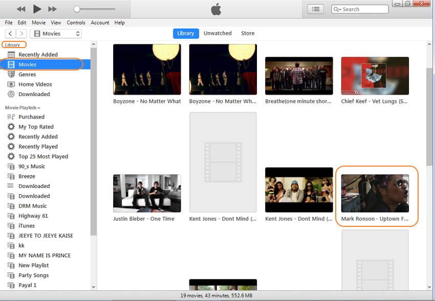 adicionar MOV ao iTunes