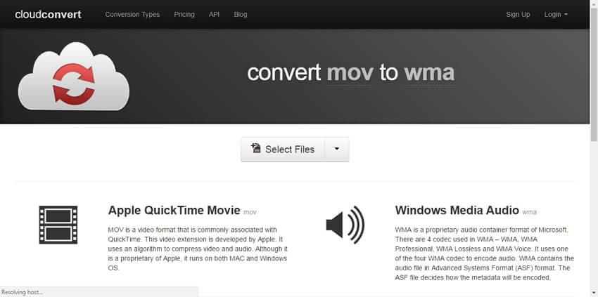 Convertidor de MOV a WMA gratis