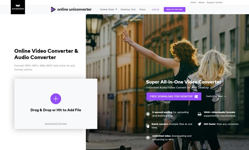 online MOV converter - online uniconverter