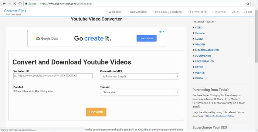 Convert YouTube to MOV with Dan's Tools