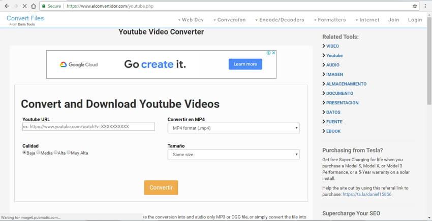 قم بتحويل YouTube إلى MOV باستخدام Dan's Tools