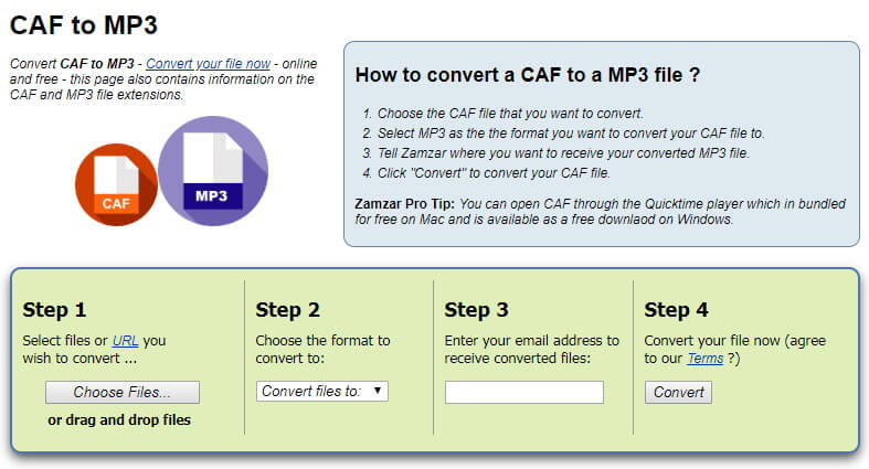 caf to mp3 online