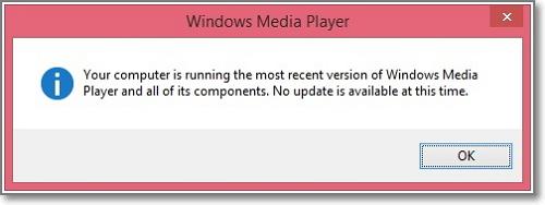 verifique qual é a versão do windows media player