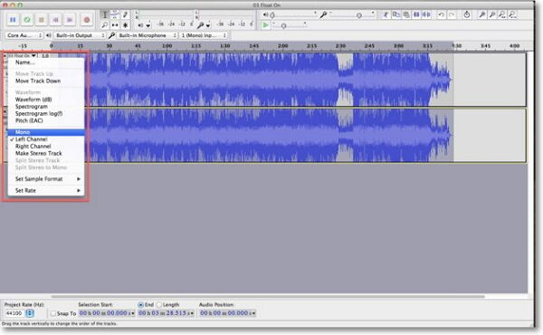 remove mp3 vocal-invert bottom track