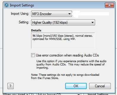 choose mp3 as output format in itunes
