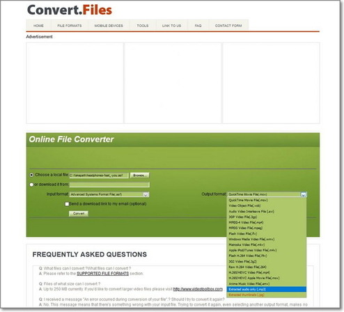 convert ASF to MP3 by Convert.Files