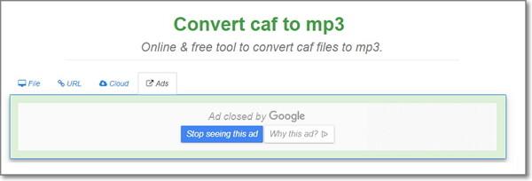 convert CAF to MP3 online-FreeFileConvert