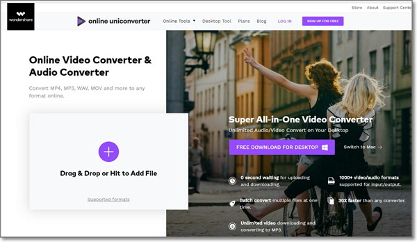 convert CAF to MP3 online-Online UniConverter