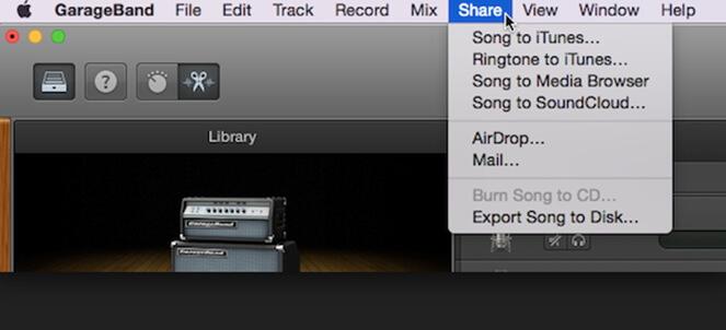 exporter le disque GarageBand