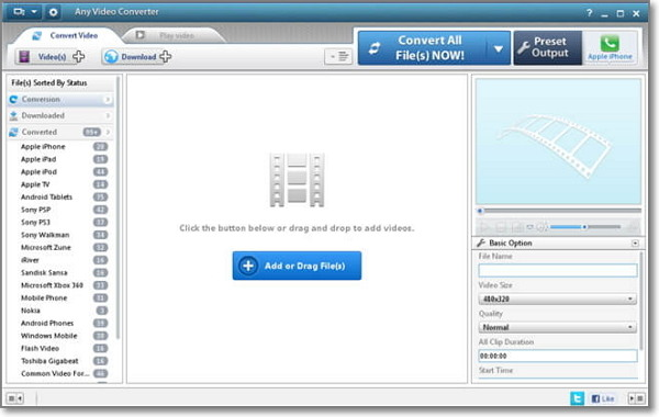 convertir MP3 a AAC Online-Any Audio Converter