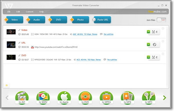 convertir MP3 a AAC Online-Freemake