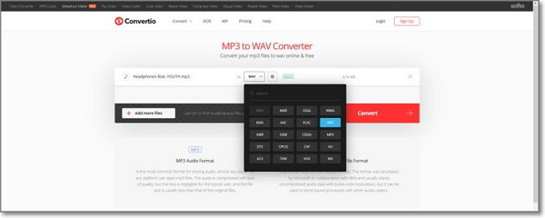 convert MP3 to AIFF by Convertio