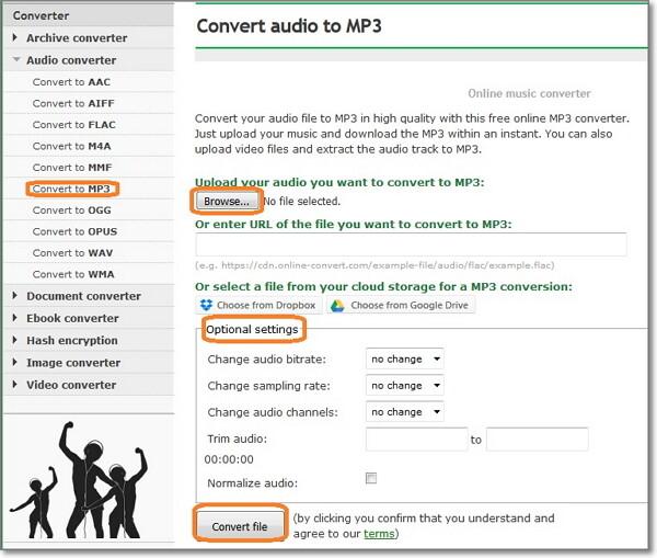convert ogg to mp3 online-Audio Online Convert