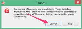 convert wma to mp3 in itunes