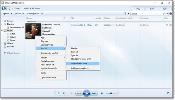 add mp3 to playlist