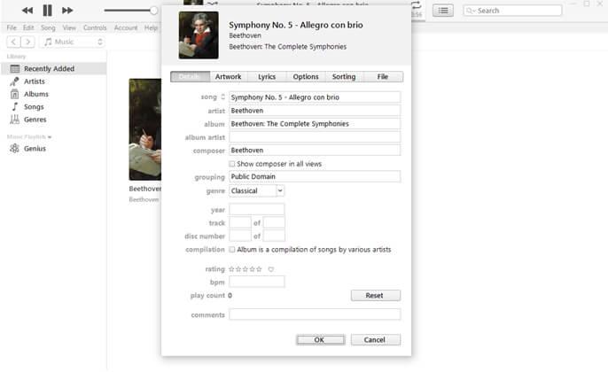Enregistrer les fichiers MP3 étiquetée