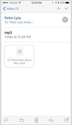 Transférer MP3 via email