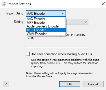 choose mp3 encoder