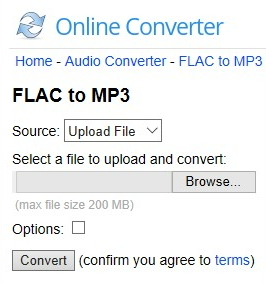 free convert flac to mp3 online