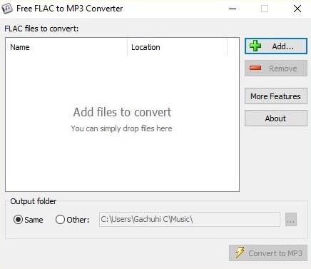 Flac hinzufügen